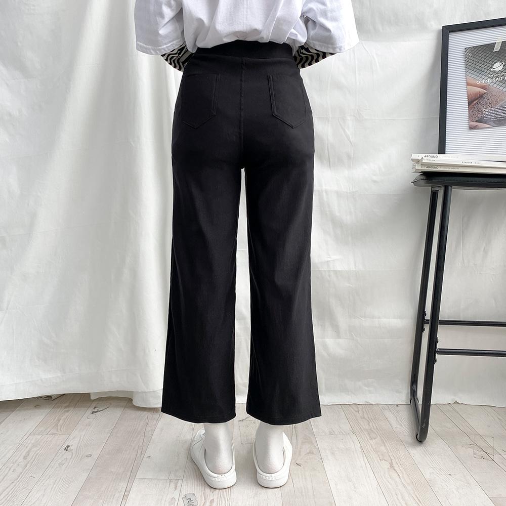 [무료배송][150cm/160cm]쫀득젤리 밴딩슬랙스 <br> 기장별 블랙팬츠 키작녀 긴바지 스판 데일리
