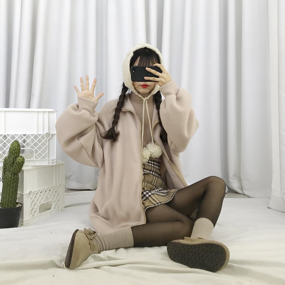 국내생산♥[무료배송][1+1할인][말랑말랑]후리스 집업 <br> 자수 반폴라 폴라폴리스 맨투맨