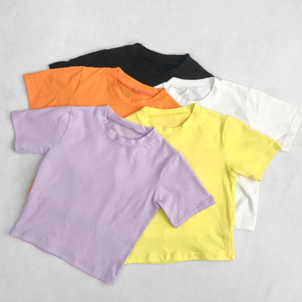 [무료배송]키치키치 크롭티셔츠 <br> 크롭반팔 노랑 블랙 면스판 키치룩
