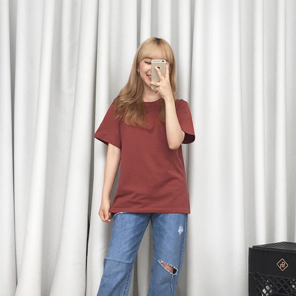 [무료배송]필요해 키작녀반팔티 <br> 티셔츠 44사이즈 데일리 베이직 기본티