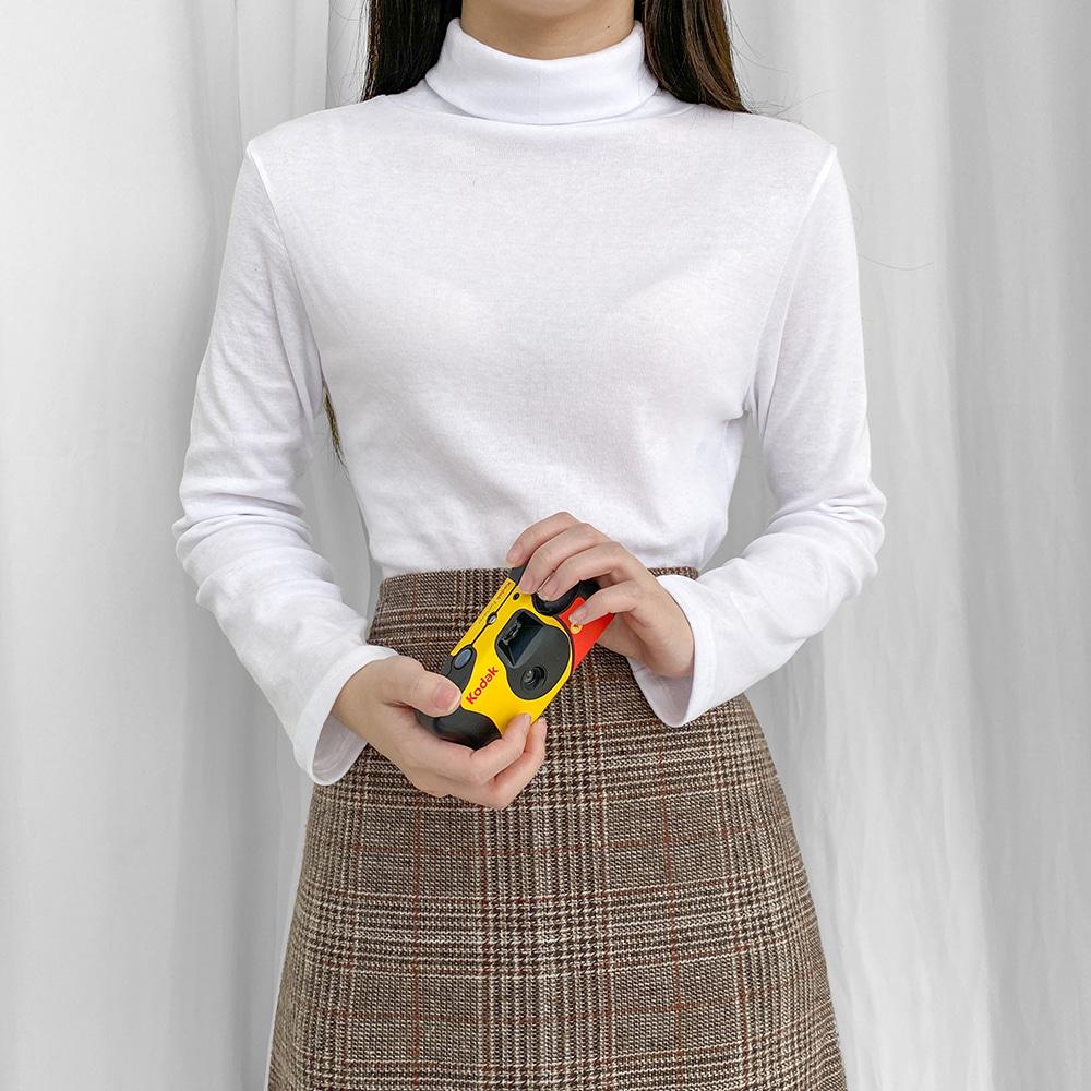 [무료배송][1+1할인]땡큐 목폴라티 <br> 긴팔티 티셔츠 폴라티 포멀핏 베이직