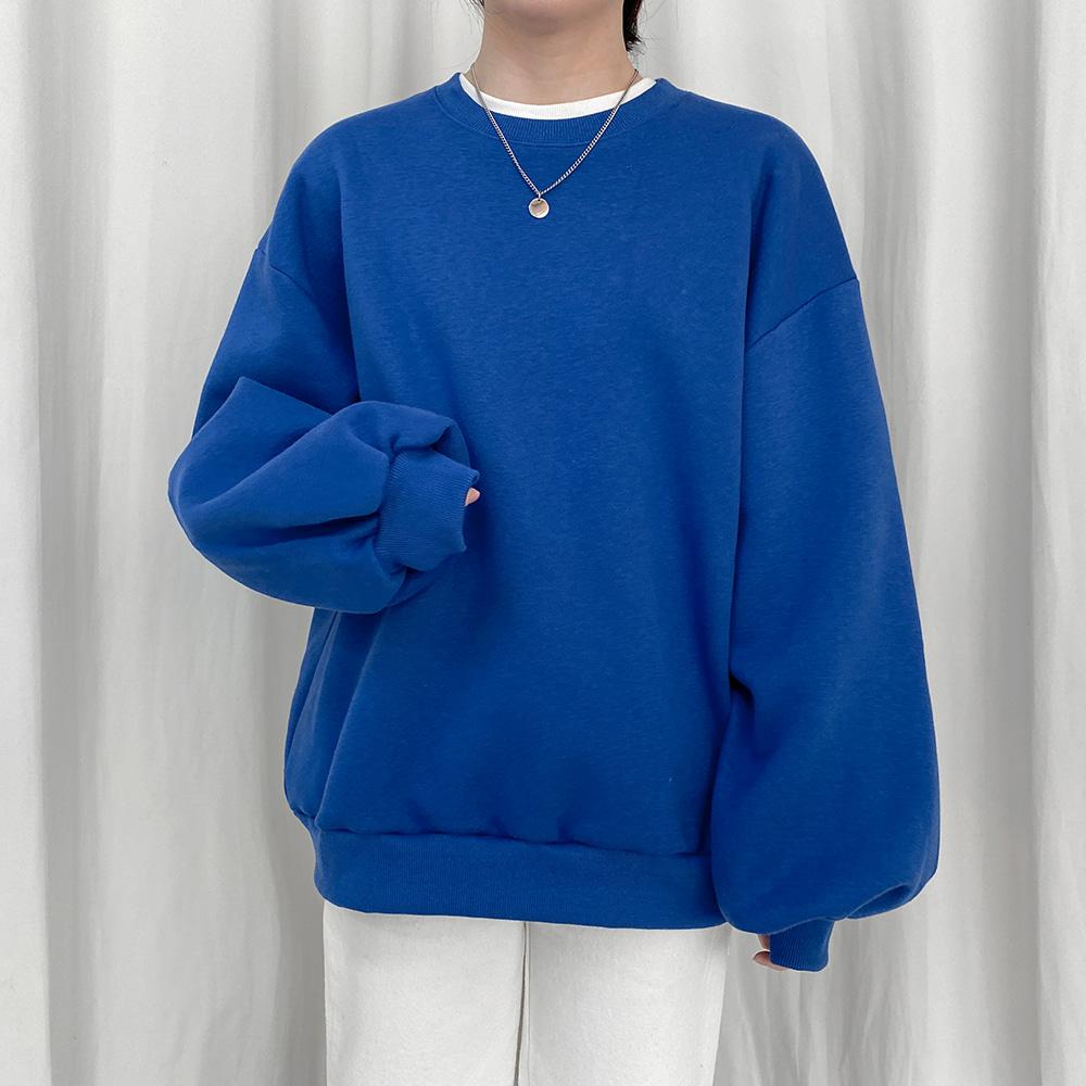 [무료배송](기모)반전매력 달맨투맨 <br> 벌룬맨투맨 프린팅 박시핏 티셔츠 후드