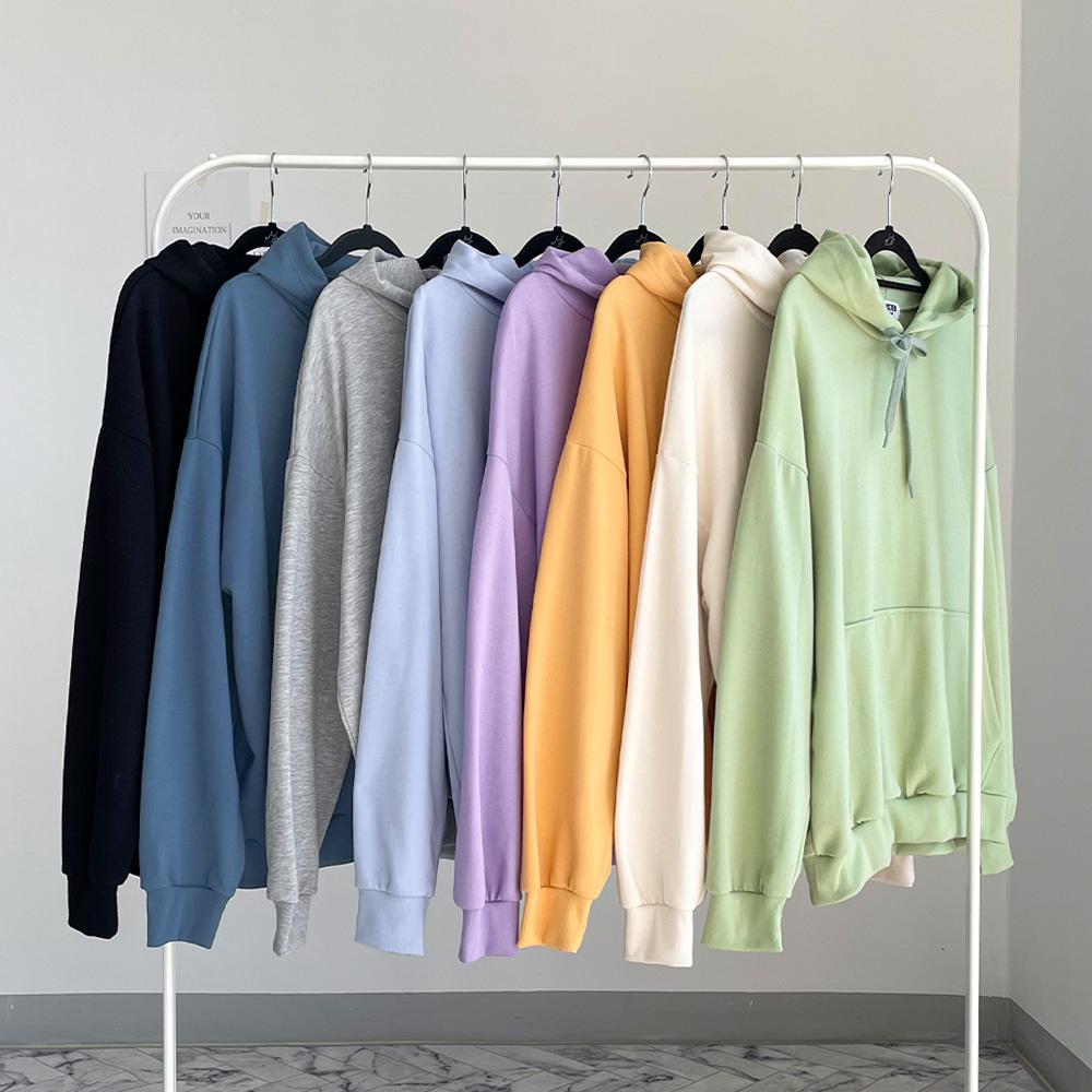 [무료배송][1+1할인]컬러맛집 후드티 <br> 8컬러 티셔츠 박시핏 데일리 특양면 맨투맨