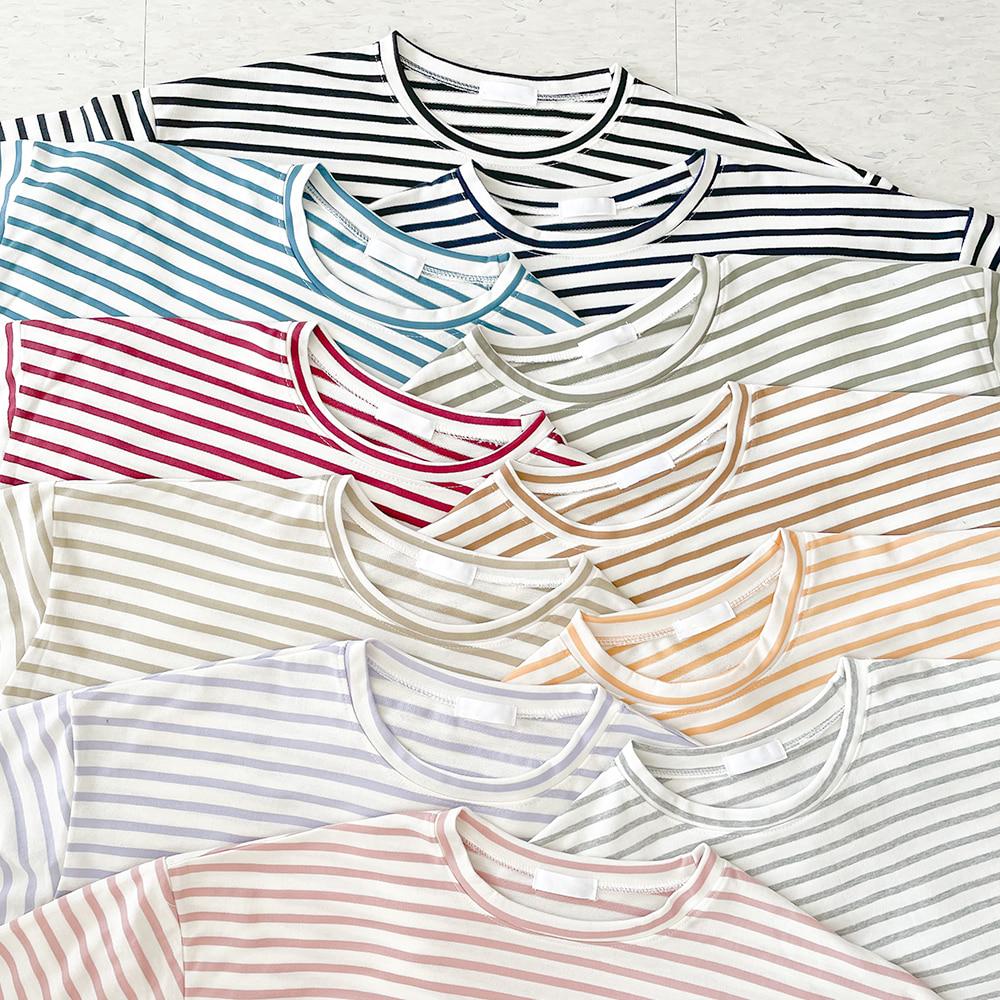 [무료배송]데이데이 단가라긴팔티 <br> 10컬러 스트라이프 티셔츠 긴팔티