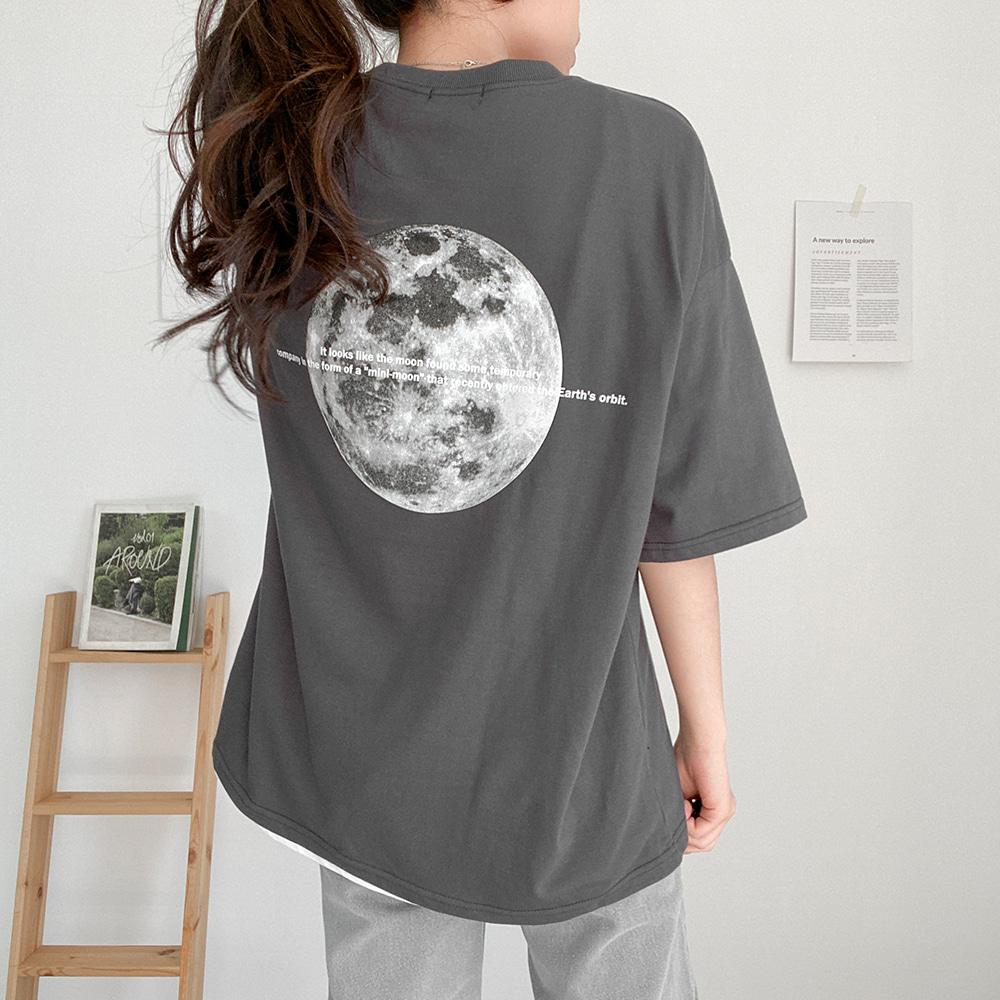 [무료배송]미니문 20수반팔티 <br> 고퀄리티 탄탄 티셔츠 박시핏 반팔티 프린팅